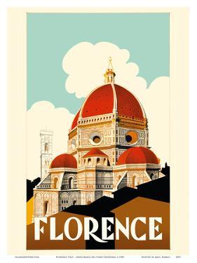 Florence Italy - Santa Maria del Fiore Cathedral, the Duomo of Florence by Pacifica Island Art