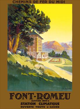 Font-Romeu - Odeillo - Chemins de fer du Midi (French Railway Company) by Pacifica Island Art