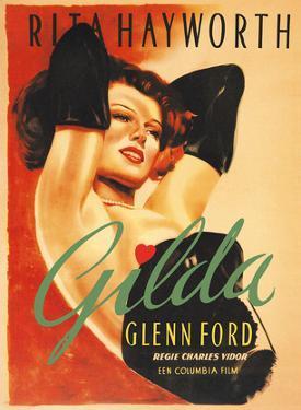 Gilda - Starring Rita Hayworth and Glenn Ford by Pacifica Island Art