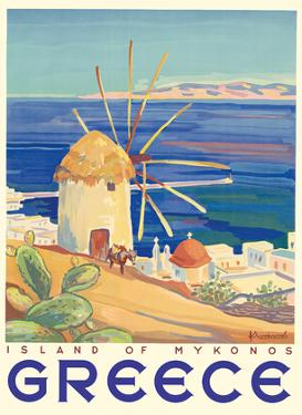 Greece - Island of Mykonos by Pacifica Island Art