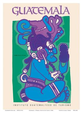 Guatemala - Itzamna, Dios de Los Cielos (God of the Heavens) - Mayan God by Pacifica Island Art