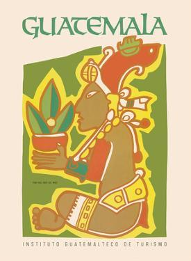 Guatemala - Yum Kax, Dios Del Maiz (Lord of the Forest) - Mayan God of Wild Plants and Animals by Pacifica Island Art