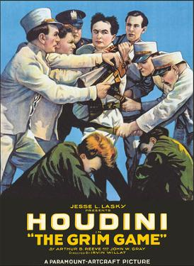 Harry Houdini in The Grim Game by Pacifica Island Art