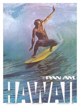Hawaii - Pan American World Airways - Hawaiian Surfer