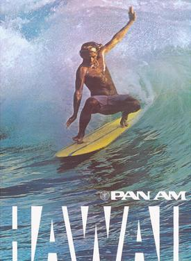 Hawaii - Pan American World Airways - Hawaiian Surfer by Pacifica Island Art
