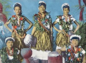 Hawaiian Hula Dancers by Pacifica Island Art