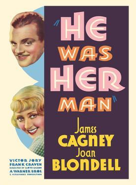 He was Her Man - Starring James Cagney and Joan Blondell by Pacifica Island Art