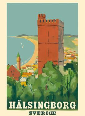 Helsingborg Sweden (Hälsingborg Sverige) - Kärnan Castle Tower by Pacifica Island Art