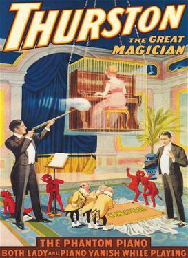 Howard Thurston, The Great Magician - The Phantom Piano by Pacifica Island Art