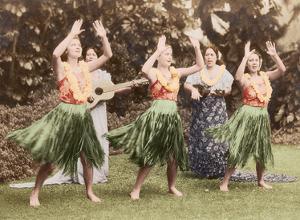Hula Dancers, Hawaii by Pacifica Island Art