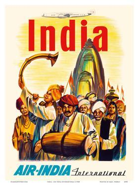 India - Air India International - Indian Temple Procession by Pacifica Island Art