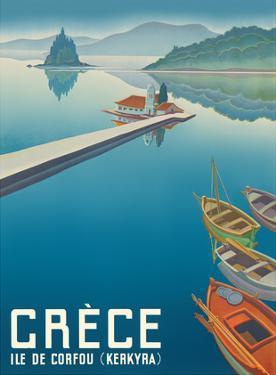 Island of Corfu (Kerkyra) - Greece (Gréce) - Vlacherna Monastery - Pontikonisi (Mouse Island) by Pacifica Island Art