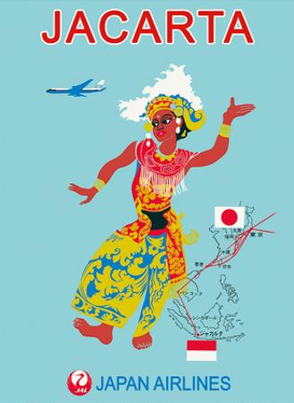 Jacarta - Japan Air Lines (JAL) by Pacifica Island Art