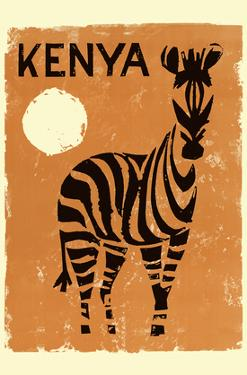 Kenya, Africa - Zebra by Pacifica Island Art