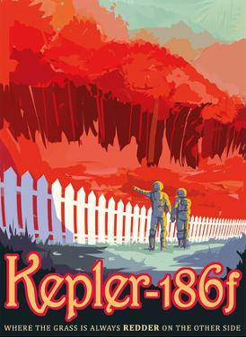 Kepler-186f - Where the Grass is Always Redder on the Other Side by Pacifica Island Art