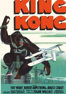 King Kong - Starring Fay Wray and Robert Armstrong by Pacifica Island Art