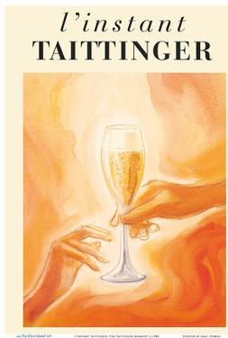 L'Instant Taittinger (The Taittinger Moment) - Champagne Glass by Pacifica Island Art