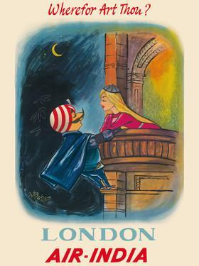 London, England - Wherefor Art Thou? - Maharajah Mascot Romeo - Air India by Pacifica Island Art