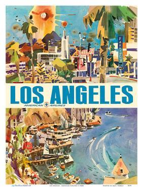 Los Angeles - American Airlines by Pacifica Island Art
