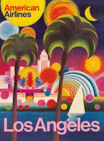 Los Angeles, California - American Airlines by Pacifica Island Art