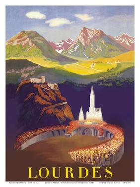 Lourdes, France - Basilica Our Lady of Lourdes by Pacifica Island Art