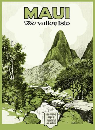 Maui Hawaii - The Valley Isle - Iao Valley Needle by Pacifica Island Art