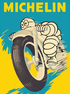 Michelin Man (Bibendum) - Motorbike Tires by Pacifica Island Art