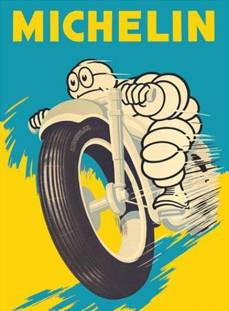 Michelin Man (Bibendum) - Motorbike Tires by Pacifica Island Art