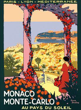 Monaco, Monte-Carlo - Au pays du Soleil (Land of the Sun) - (PLM) by Pacifica Island Art