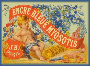Myosotis Blue Ink (Encre Bleue Myosotis) - J. Herbin, Paris by Pacifica Island Art