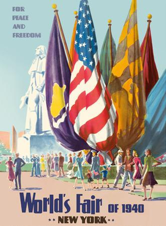 New York World's Fair of 1940 - For Peace and Freedom by Pacifica Island Art