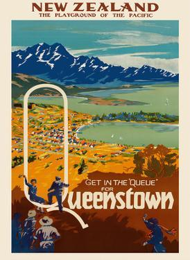 New Zealand - Playground of the Pacific - Get in the Queue for Queenstown by Pacifica Island Art