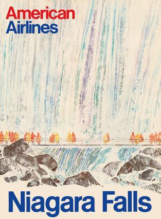 Niagara Falls New York - American Airlines by Pacifica Island Art