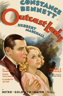 Outcast Lady - Starring Constance Bennett, Herbert Marshall by Pacifica Island Art