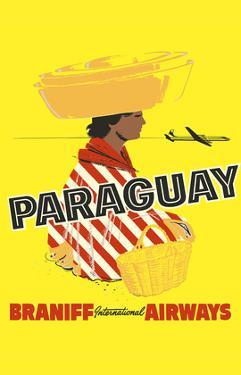 Paraguay - South America - Braniff International Airways by Pacifica Island Art