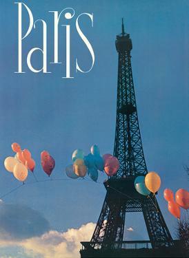 Paris, France - Balloon Arch Across the Eiffel Tower by Pacifica Island Art