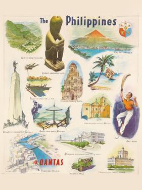 Philippines - Qantas Empire Airways (QEA) by Pacifica Island Art