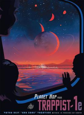 Planet Hop from Trappist-1E - Voted Best Hab Zone Vacation by Pacifica Island Art