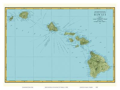 Rand McNally Atlas Map of Hawaii