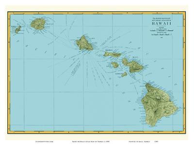 Rand McNally Atlas Map of Hawaii by Pacifica Island Art