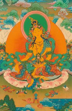 Red Tara (Buddhist Deity) - Trembler of the Three Worlds by Pacifica Island Art