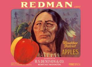 Redman Apples - Wenatchee District, Washington - H.S. Denison & Company by Pacifica Island Art