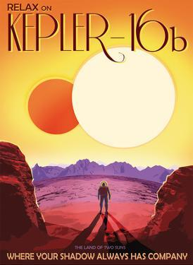 Relax on Kepler-16b - The Land of Two Suns by Pacifica Island Art