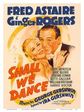 Shall We Dance - Starring Fred Astaire and Ginger Rogers - Music by George Gershwin by Pacifica Island Art