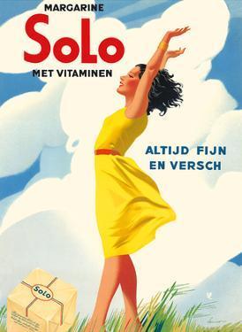 Solo Margarine - Met Vitaminen (With Vitamins) - Altijd Fijn en Versch (Always Nice and Fresh) by Pacifica Island Art