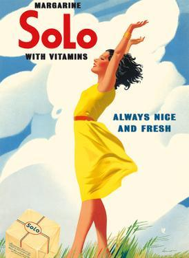 Solo Margarine - With Vitamins - Always Nice and Fresh by Pacifica Island Art