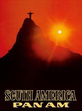 South America - Pan American World Airways - Rio De Janerio, Brazil - Christ the Redeemer Statue by Pacifica Island Art