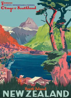 South Island, New Zealand - Otago & Southland - New Zealand Railways by Pacifica Island Art