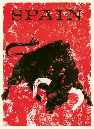 Spain - Spanish Bull Fighting by Pacifica Island Art