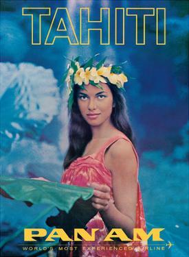 Tahiti - Pan American World Airways - Tahitian Beauty by Pacifica Island Art